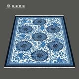 藏羊地毯纯羊毛青花瓷地毯